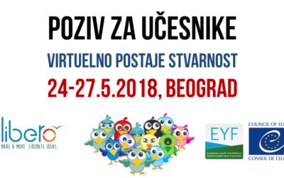Poziv za učešće na treningu Virtuelno postaje stvarnost (24-27.5.2018, Beograd)