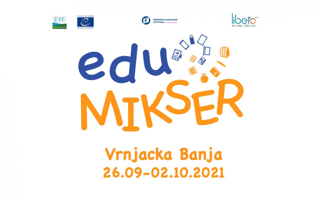 Call for Training Seminar – eduMIKSER (Vrnjačka Banja, 26.09-02.10.2021)
