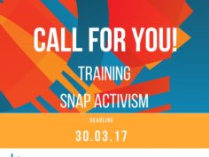 Snap Activism, call for participants- deadline extended to 30th of March