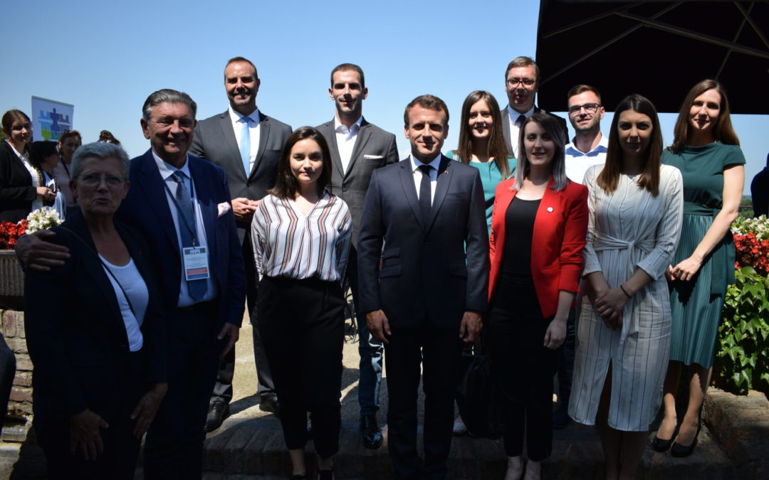 Libero at a meeting with French President Emanuel Macron