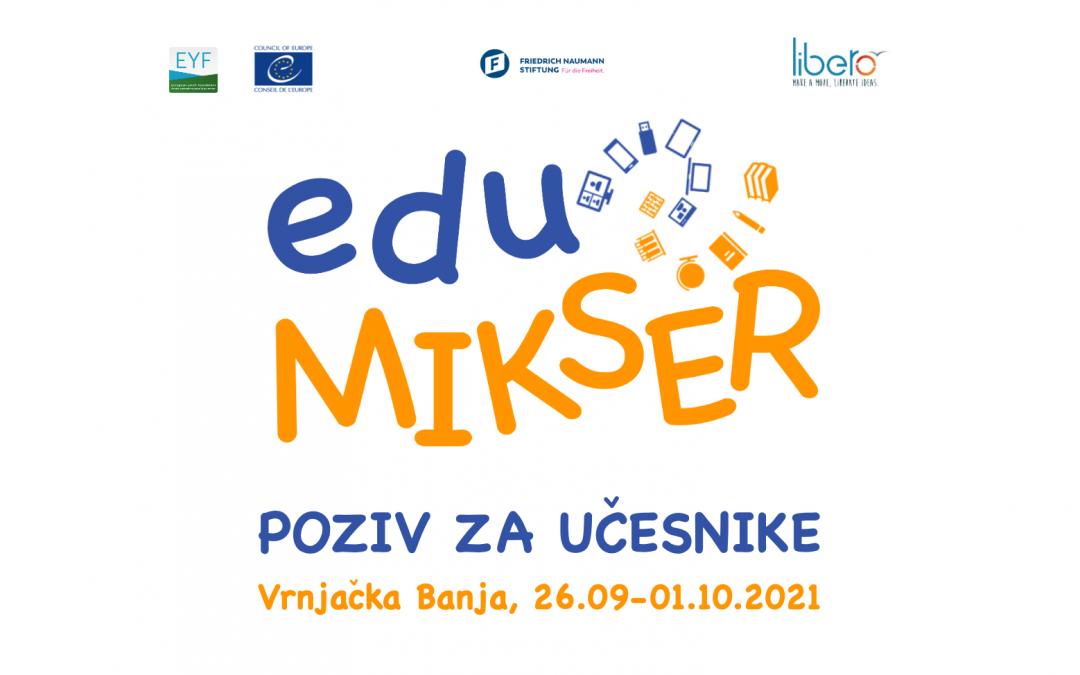 Poziv za trening seminar – eduMIKSER (Vrnjačka Banja, 26.09-01.10.2021)
