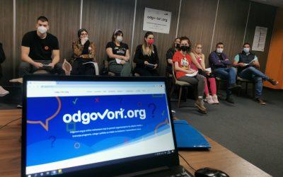 """Trening za omladinske radnike u okviru projekta """"Odgovori.org"""""""