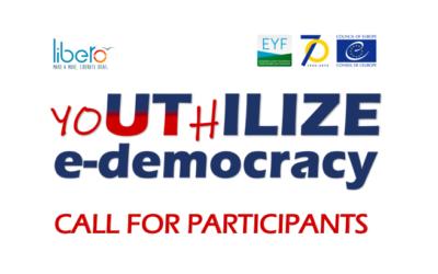 yoUThILIZE e-democracy (Vršac, 8-14.4.2019) – Call for Participants