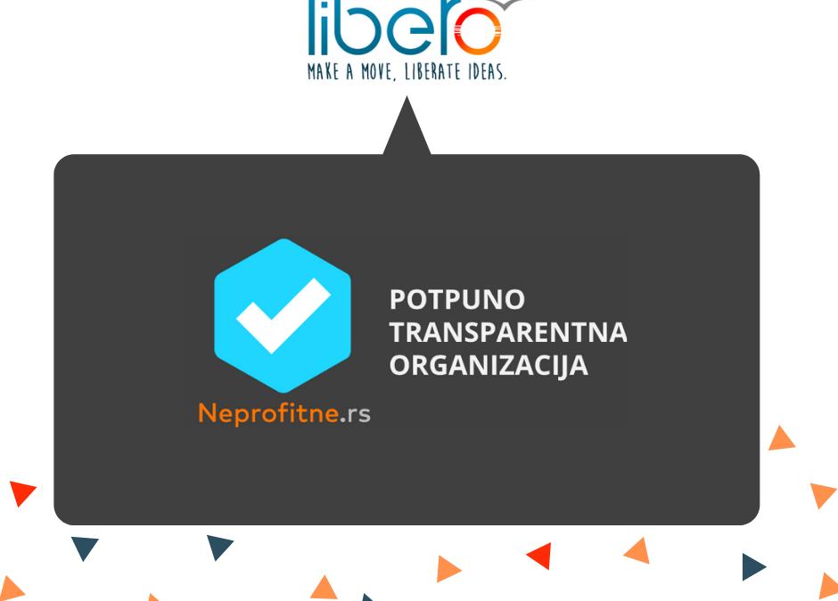 """Libero gets marked as """"Fully transparent NGO"""" by neprofitne.rs"""