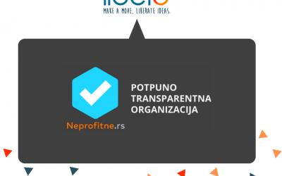 "Libero dobitnik bedža ""Potpuno transparentna organizacija"" platforme neprofitne.rs"